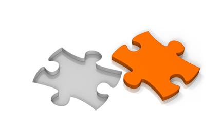 zwei puzzlestuecke
